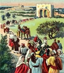 Ezra 7:7 Some of the people of Israel, as well as some of the priests, Levites, singers, gatekeepers, and Temple servants, traveled up to Jerusalem with him in the seventh year of King Artaxerxes' reign.     8 Ezra arrived in Jerusalem in August of that year. 9 He had arranged to leave Babylon on April 8, the first day of the new year, and he arrived at Jerusalem on August 4, for the gracious hand of his God was on him.