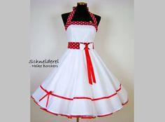 Brautkleid Hochzeitskleid rotes Band von Schneiderei Heike Borchers auf DaWanda.com