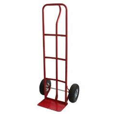 "Buffalo Tools HDTRUCKP Red Heavy Duty Hand Truck by Buffalo Tools. $74.99. It is used for moving or handling bulky home appliances and other large items yourself. The Buffalo Tools 600 pounds heavy duty truck dolly will help you get the refrigerator, washer, and dryer from the back of your truck into your home with ease. The 52 inches dolly is equipped with a large 14 inches long by 8.5 inches wide toe plate which gives to large loads plenty of steel to sit on. The convenient ""P..."