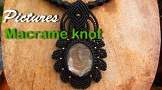 Pictures Macrame knot necklaces stones with waxed cord