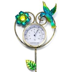 Avon Living Flutter Collection Garden Stake Thermometer