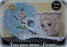 taza para nenas FROZEN ♥ pintado a mano por face/DOÑATAZA