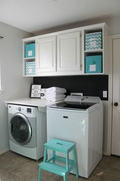 Fan of the shelf covering dryer. Laundry Room Makeover for Under $100