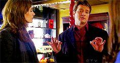richard castle gif. Beckett's reaction lol