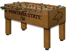 Montana State Bobcats Foosball Table from ManCaveGiant.com