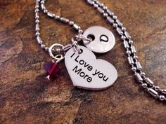 Personalized Jewelry I Love You More Heart by CharmAccents on Etsy, $18.00