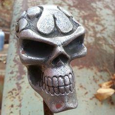 Skull gear shift knob on a forklift? Sure, but be safe :)