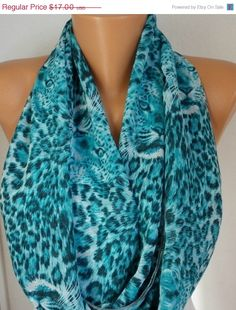 ON SALE Leopard - Infinity Scarf Shawl Circle Scarf Loop Scarf Gift -fatwoman via Etsy