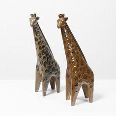 """Lisa Larson (née en 1931) - Girafes, Ensemble de deux sculptures - Céramique[1965...], mis en vente lors de la vente """"Art+Design : Collection Maurizio Pecoraro"""" à Piasa"""