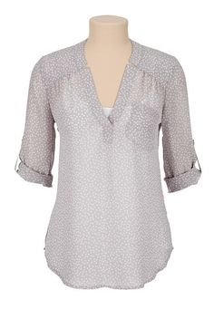 dot print chiffon blouse (original price, $29) available at #Maurices
