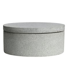 Round Imitation Stone Box | Gray | Home | H&M US