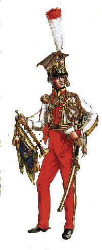 Le 2em Régiment de lancier de la garde Lanciers Rouge