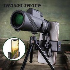 1000X Zoom Waterproof Monocular Mobile Telescope – MDRNmint Wilderness Explorer, Parcs, Bird Watching, Stargazing, Night Vision, Samsung Galaxy S9, High Definition, Cool Things To Buy, Fun Things