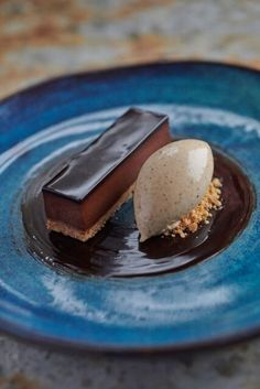 Romantic Chocolate Delice with Peanut for two. # fancy Desserts Chocolate Delice with Peanut Mini Desserts, Gourmet Desserts, Plated Desserts, Chocolate Desserts, Just Desserts, Delicious Desserts, Dessert Recipes, Chocolate Bowls, Gourmet Foods