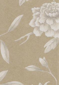 Jasper Peony wide width wallpaper in Pure Gold.