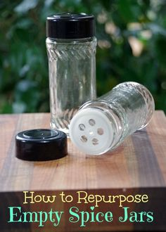 Not sure what to do with your empty spice jars? Here are a few ideas!