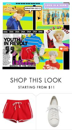 """ BTS -DNA "" by anniiebee ❤ liked on Polyvore featuring Chicnova Fashion, Santoni, Old Navy and Hedi Slimane"