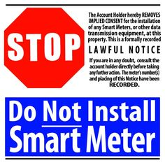 DOWNLOAD FREE FLYERS FROM STOP SMART METERS UK http://stopsmartmeters.org.uk/leaflets-please-circulate/