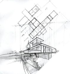 Architecture Houses Sketch 19846 Hd Wallpapers in Architecture - Telusers.com