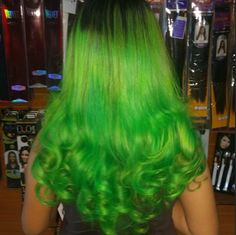 MANIC PANIC Electric Lizard mixed with Green Envy, styled by Juan Chelis.