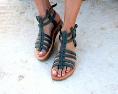 Gladiator Greek Sandals/Aelia Sandals/Grey Genuine Leather/Strappy Woman Sandals /Platform sandals/ Flatform / handmade sandals by aeliasandals on Etsy https://www.etsy.com/listing/592618688/gladiator-greek-sandalsaelia-sandalsgrey