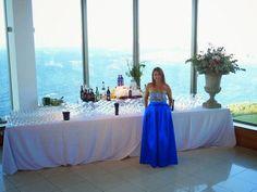 Un vestido azul de princesa: ¡perfecto para ir a una boda!