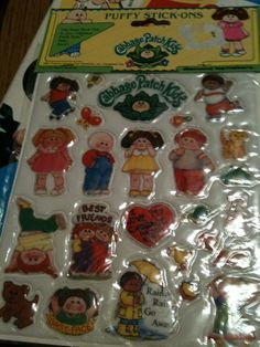 Sticker collection........pretty sure I have these. Cabbage Patch was crazy big then.