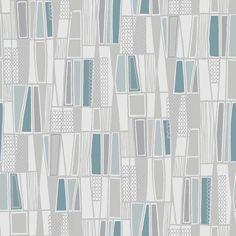 Retro by Boråstapeter - Pale Blue & Grey - Wallpaper : Wallpaper Direct Pink And Grey Wallpaper, Ps Wallpaper, Embossed Wallpaper, Wallpaper Panels, Wallpaper Samples, Hallway Wallpaper, Bedroom Wallpaper, Unique Wallpaper, Geometric Tiles