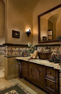 rustic bathroom sink cabinete | rustic bathroom design