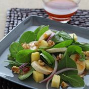 Tropical Spinach Salad with Bananas