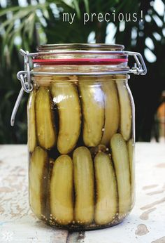 pickles de pepino feito em casa - homemade cucumber pickles