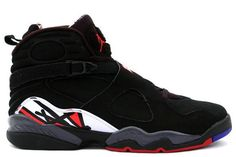 Nike Air Jordan 8 VIII Retro - Playoffs (Black/Varsity Red-White) Best shoes ever! Jordans For Sale, Cheap Jordans, Newest Jordans, Retro Jordans, Womens Jordans, Shoes Jordans, Nike Air Jordan 8, Air Jordan Shoes, Moda Masculina