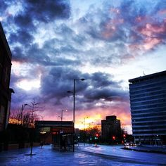 Beautiful cloudy sunset over Southend Victoria roundabout 23/3/14 http://www.lovesouthend.co.uk