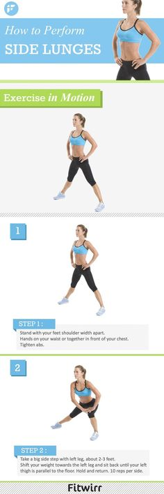 How to perform the perfect side lunge. #lunges #sidelunges