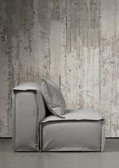 El papel de pared simulando hormigón Concrete Wallpaper es la nueva creación del diseñador holandés Piet Boon