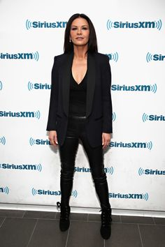 Catherine Zeta-Jones Photos Photos - Actress Catherine Zeta-Jones visits the SiriusXM Studios for the 'Town Hall' with the Cast of 'Feud' on February 13, 2017 in New York City. - SiriusXM's 'Town Hall' With The Cast Of 'Feud'