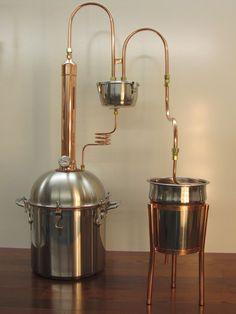 Alcohol Ethanol Moonshine Copper Tower Still 4 Gallon Premium Boiler | eBay