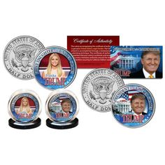 DONALD & IVANKA TRUMP First Daughter Official U.S JFK Half Dollar 2-Co – Patriot Products | Selling The Best American Products
