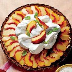Peach Divinity Icebox Pie (Southern Living)