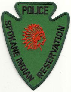 SPOKANE INDIAN RESERVATION POLICE WASHINGTON WA PATCH Spokane Indians, Spokane Tribe, Law Enforcement Badges, Enforcement Officer, Police Uniforms, Police Badges, Indian Reservation, Indian Theme, Police Patches
