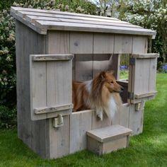 hondenhok steigerhout zipp