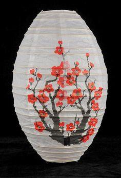 Paper Lanterns Japanese Cherry Blossom 18  Oval Lanterns   $5.99 each/ 3 for $5 each