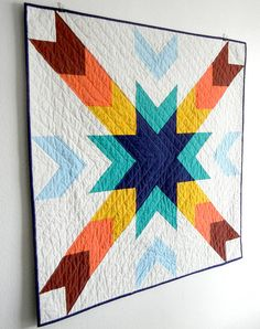 Cedar Breaks Modern Baby Quilt by JenniferMeakins on Etsy