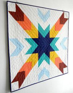 Cedar Breaks Modern Baby Quilt by JenniferMeakins on Etsy