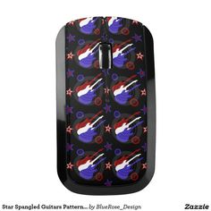 Star Spangled Guitars Pattern Wireless Mouse
