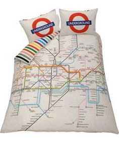 Buy Living London Tube Map Duvet Cover Set - Double at Argos.co.uk - Your Online Shop for Duvet cover sets.