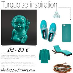 """Iki - Live in turquoise !"" by thehappyfactory on Polyvore #bouddha #happy #smile #deco #home"