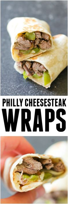 Philly Cheesesteak Wraps from Six Sisters' Stuff | Easy Lunch Ideas | Summer Recipes | Main Dish | Kid Approved Meals