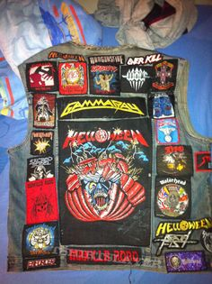 Full Metal Jacket, Battle Jacket, Custom Clothes, Heavy Metal, Vests, Patches, Army, Punk, Denim