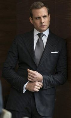 Whew! Suits Gabriel Macht as Harvey Specter shows how three-piece suit should be worn! I could watch it ALL DAY LONG!